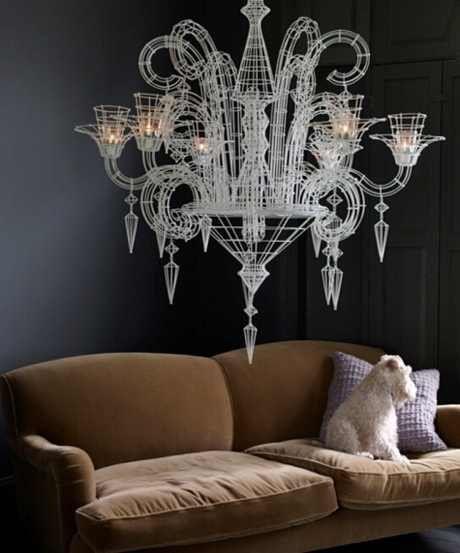 Neo-Baroque chandelier by Atelier Abigail Ahern. Amazing.