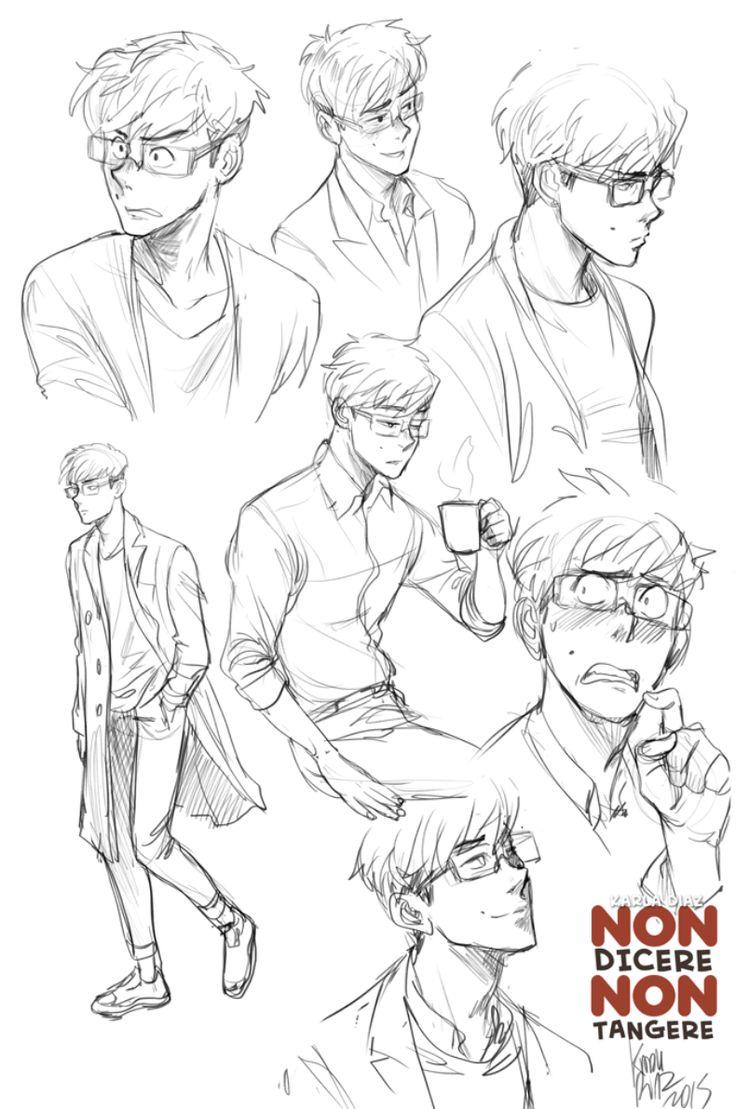 Sketch male character by KarlaDiazC.deviantart.com on @DeviantArt
