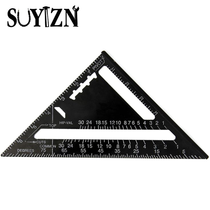7 Inch Triangle Ruler Measuring Tool Quick Read Square Layout Tool Triangle Angle for Carpenter Ruler For Woodworking ZJ38 #Affiliate