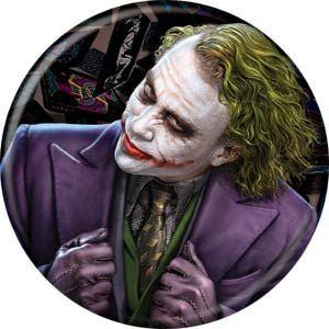 DC Comics 1.25-Inch Button - Heath Ledger Joker Turned Face (84832) - Midtown Comics