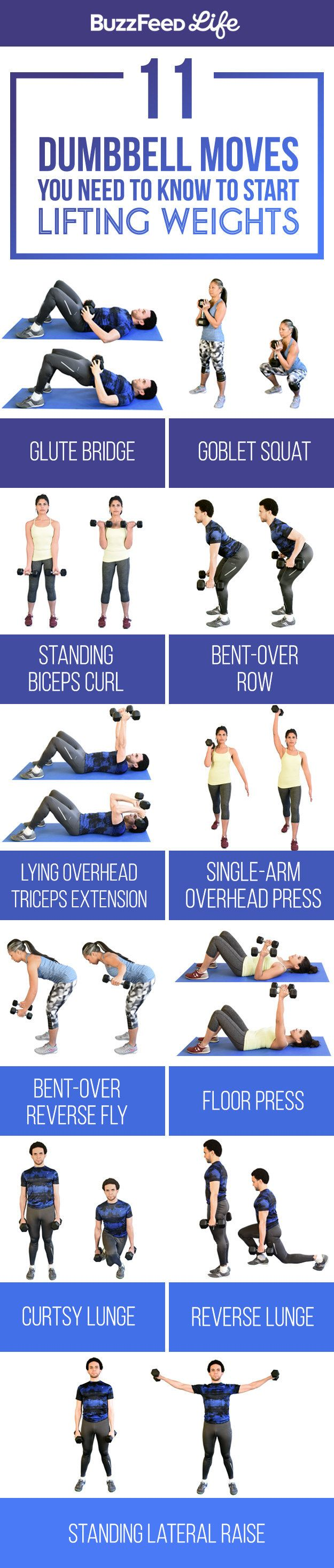 11 Dumbbell Moves You Should Know To Start Lifting Weights More