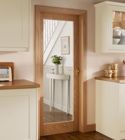 Burford Single Panel Oak Glazed | Internal Hardwood Doors | Doors  Joinery | Howdens Joinery