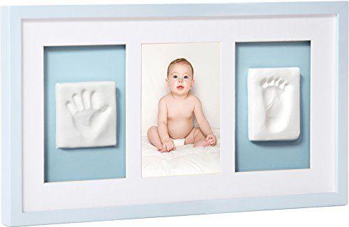 Mit diesem süßen Bilderrahmen für Baby Hand- und Fußabdruck verewigen Sie Ihren Kleinen. Perfekt als Geschenk für junge Eltern. Inkl. Abdruckmasse.