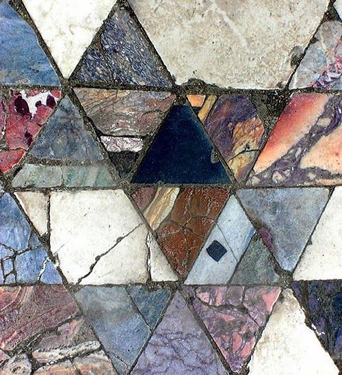 Mosaic floor, almost 2000 years old, in herculaneum, italy. Photo by phault on flickr