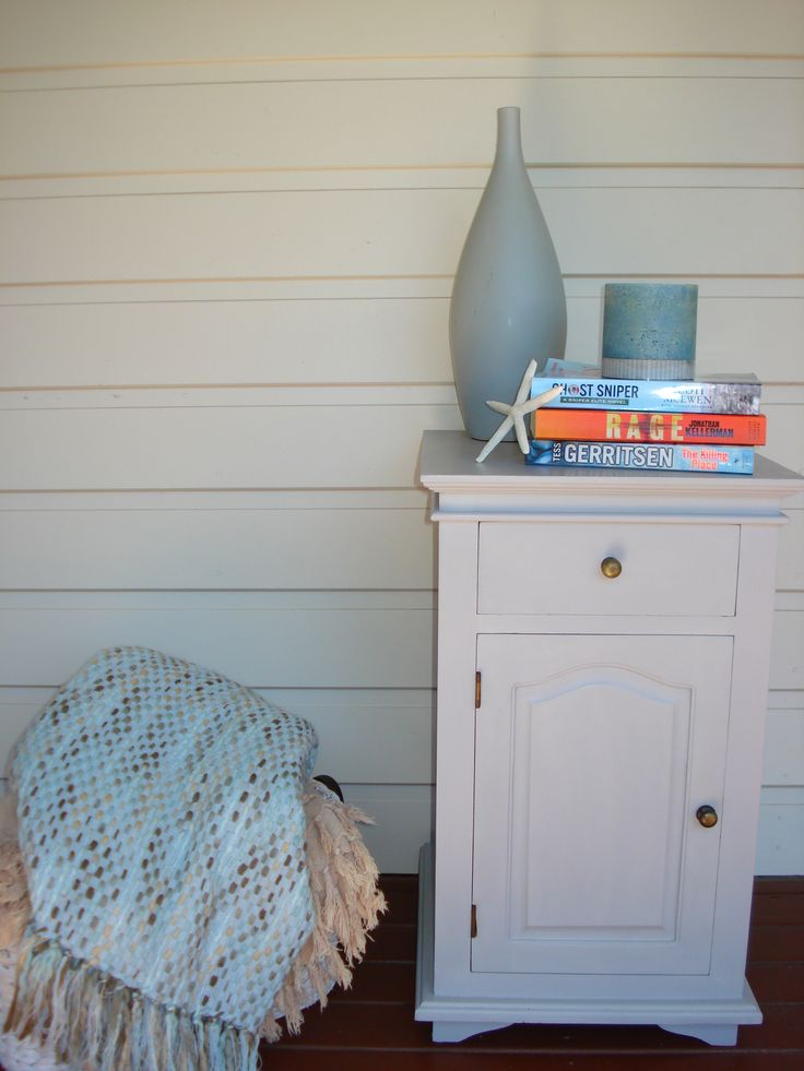 This lovely bedside table has been hand painted with Annie Sloan Chalk Paint in Paris Grey, and has been sealed with soft wax for durability.  The pale grey colour gives this traditional piece a very fresh modern feel, which makes this perfect for either adult and children's bedrooms. #furniture #bedside #traditional #anniesloan #ascp #anniesloanchalkpaint #parisgrey #functionbydesign