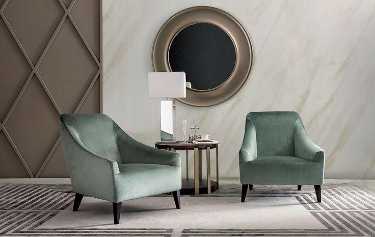 MAGENTA armchair & bergere, design Castello Lagravinese for Casamilano home collection.