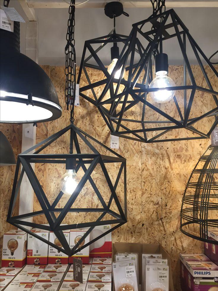 Lampen geo zwart staal loods 5