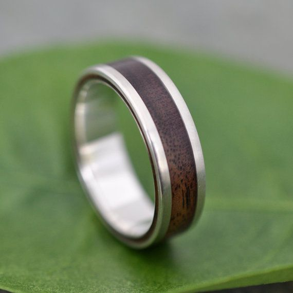 Lados Walnut Wood Ring recycled sterling silver by naturalezanica