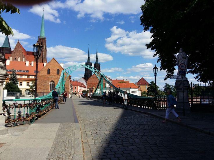 Tumski brug in Wroclaw