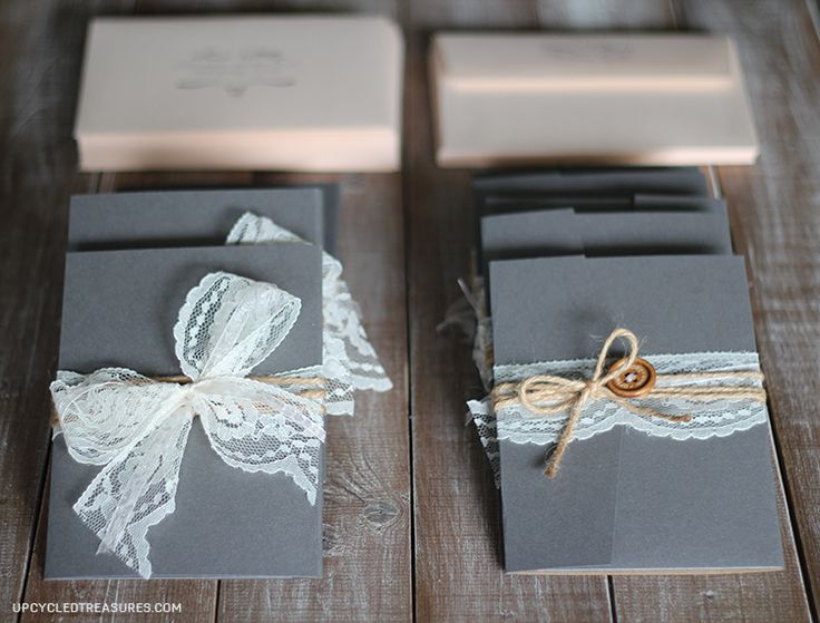 diy-rustic-vintage-wedding-invitations ~ These are ADORABLE!!!
