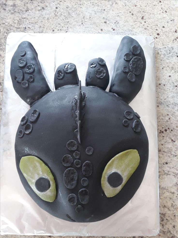 Toothless cake made for Grandson's 4th birthday