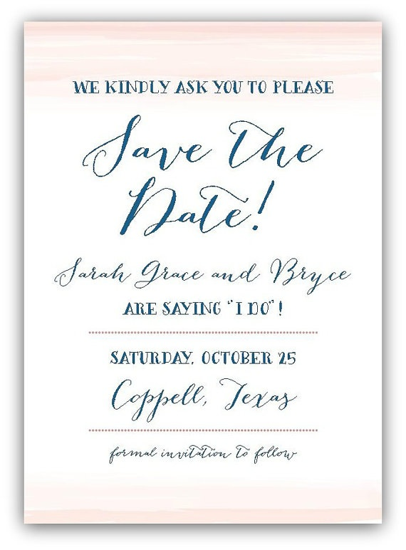 soft pastel watercolor save the date by gracefully made designs on Etsy.com