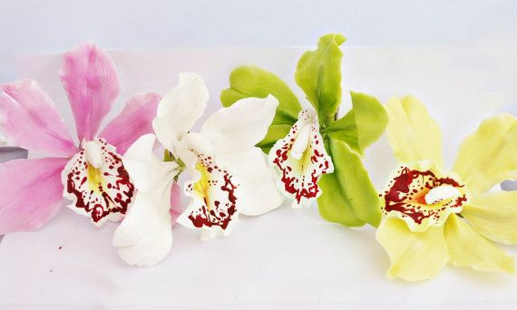 Hair Accessories Cymbidium cold porcelain от BestColdPorcelain