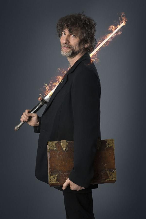 Flaming Sword & Neil Gaiman