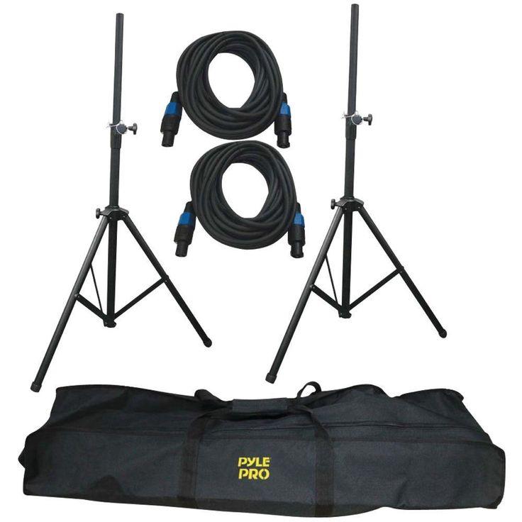 PYLE PRO PMDK101 Heavy-Duty Pro Audio Speaker Stand & Speakon(R) Cable Kit