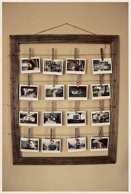 Antique looking photo display