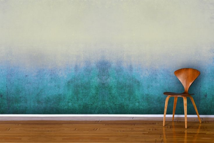 Blue grunge wall mural murals trends and paint for Meuble mural wall