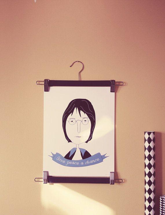 John Lennon Poster | Art Print | Illustration Design | Home Decor | Wall Decoration |The Beatles |Music poster | Quote
