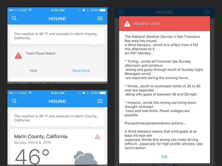 Hound iOS Weather Alerts