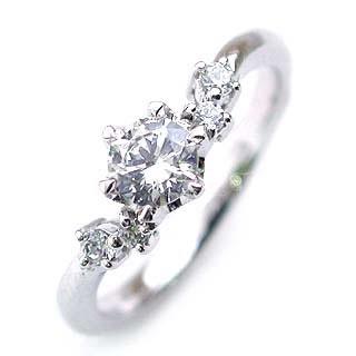 値下げ!!今ならラッピング無料◆婚約指輪(エンゲージリング) プラチナ ダイヤモンドデザインリング(ラウンドブリリアント)