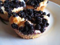 Quark-Grieß-Muffins mit Waldheidelbeeren
