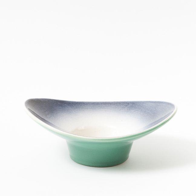"""Original vinatge bowl with sprayed decor produced in the 60s by Keramika Kravsko. Beautiful example of so-called """"brussels style""""."""