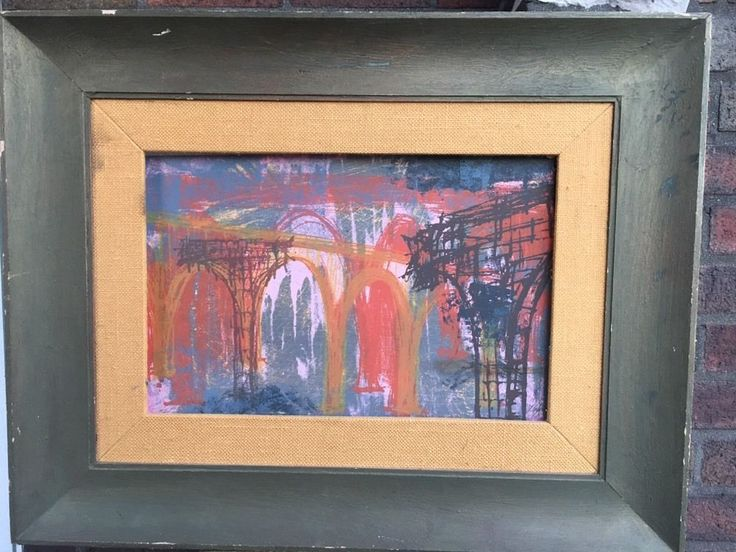 1957 Signed/Dated New York School Geometric Abstract Silkscreen in 50's Frame  | eBay