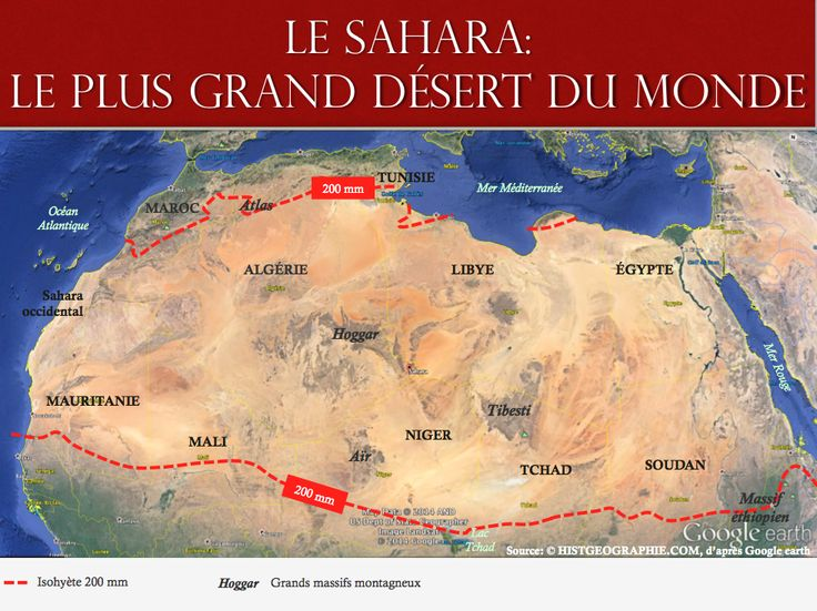 le sahara le plus grand d sert du monde source histgeographie com d apr s google earth. Black Bedroom Furniture Sets. Home Design Ideas