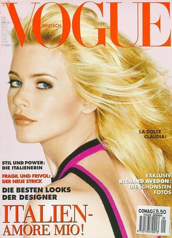 Vogue Germany September 1994 - Claudia Schiffer