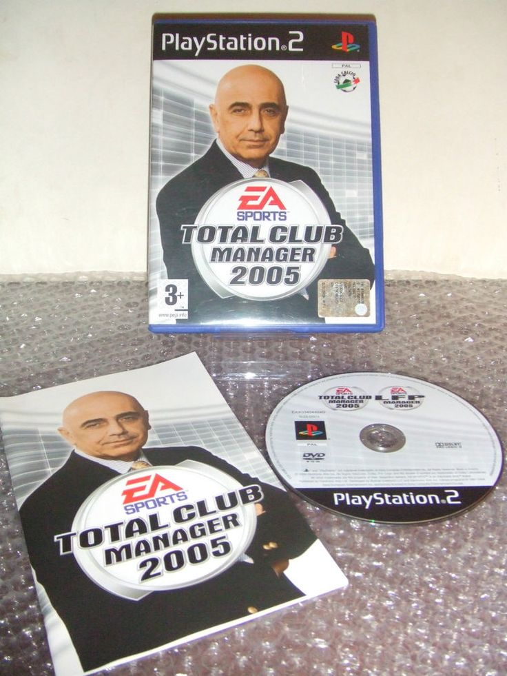 TOTAL CLUB MANAGER 2005 - PS2 ps3 playstation - ITA - Come Nuovo
