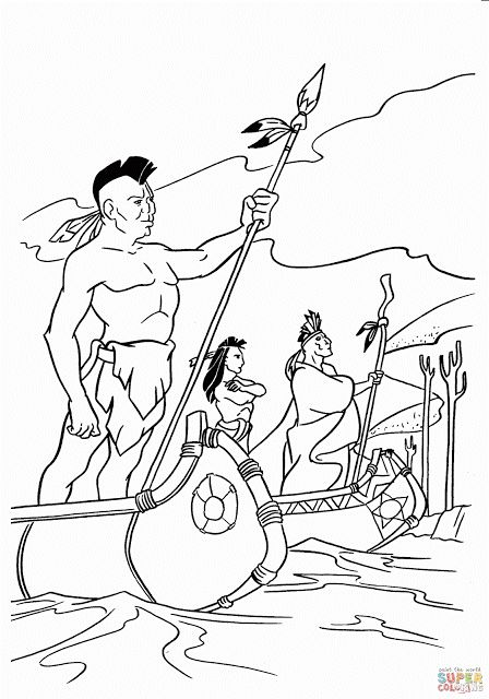 native american day coloring pages