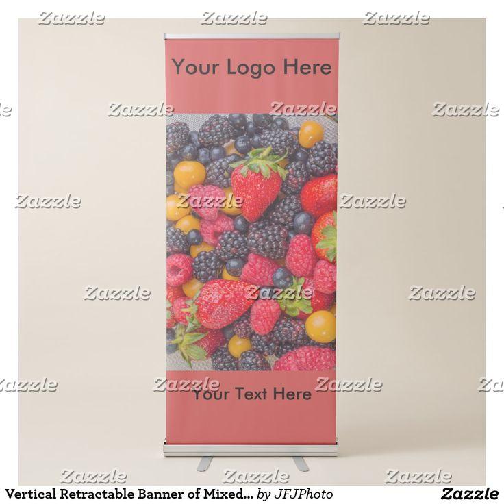 Vertical Retractable Banner of Mixed Berries