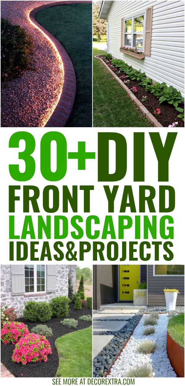 30 Amazing Diy Front Yard Landscaping Ideas And Designs For 2019 Diy Landscaping Mulch Landscaping Front Yard Landscaping