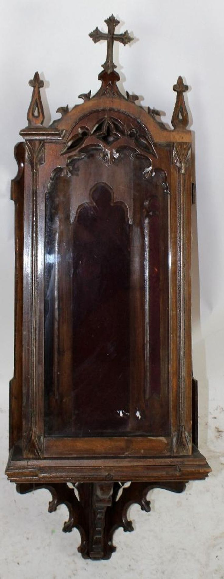 French Gothic corner wall niche