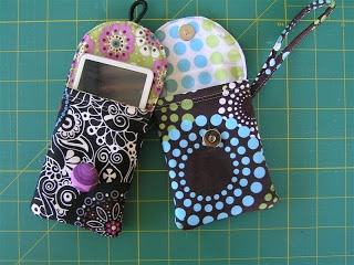 Super quick and easy wristlet camera or phone case with DIY instructions.  I made this in about an hour (and that's with a right hand somewhat out of commission!)