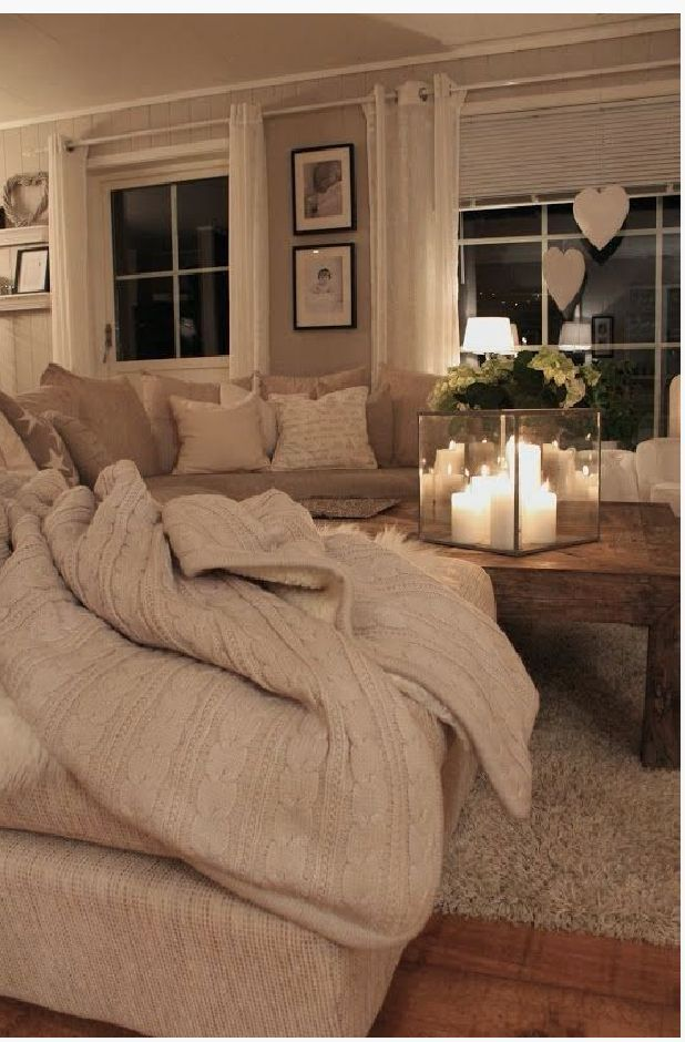 This cosy living room must get around 50 re-pins per day :) so beautiful