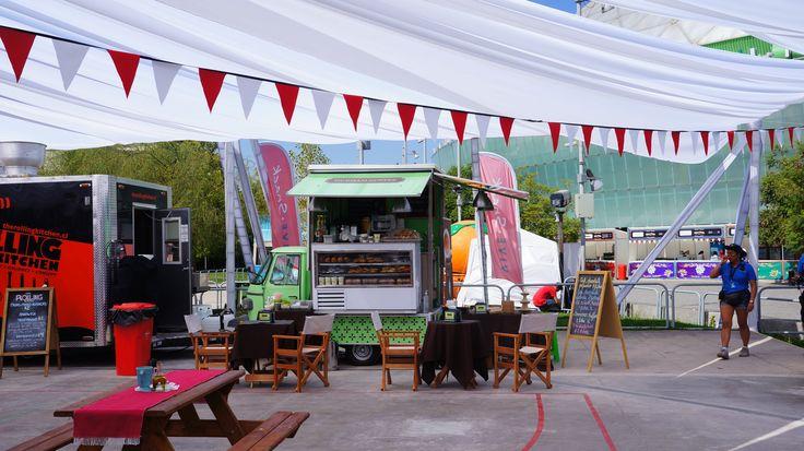Nuestro primer evento en santiago. Lollapalooza Chile 2015 #coffeecart #apepiaggio #Apecar