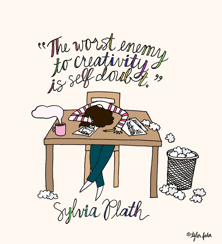 """""""The worst enemy to creativity is self doubt."""" Amen!"""