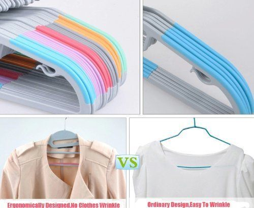 "ABS Material -The Material is a special Non Slip material which the hangers are made from so you can be sure that no piece of clothing can ever slip off style=""color:#006400"" extra Slim -The hangers are made Super Slim,its thick is just 6mm, which double your closet space instantly."