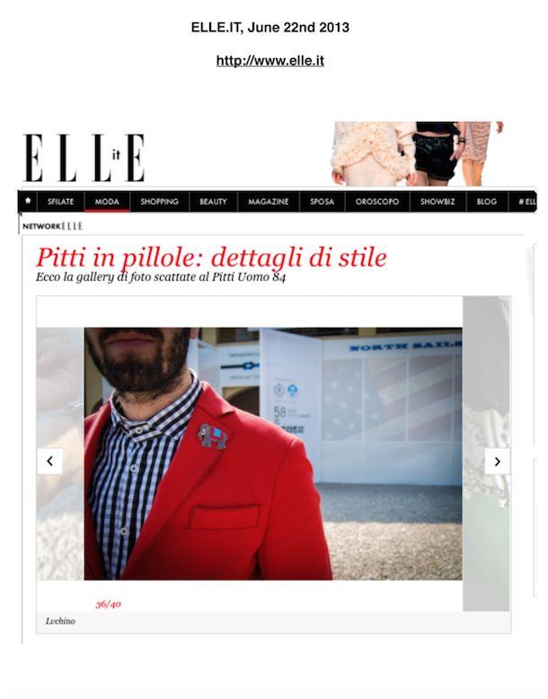 """Pitti in Pillole: Dettagli di Stile"" Our Jacket & Pins on ELLE.IT"
