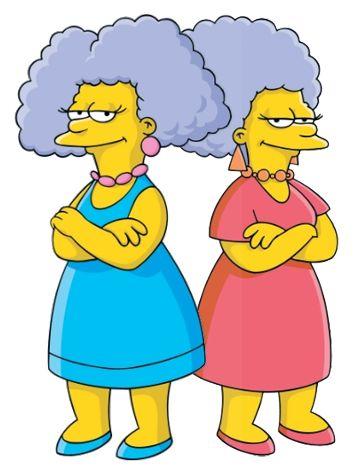 Сестры мардж из симпсонов картинки