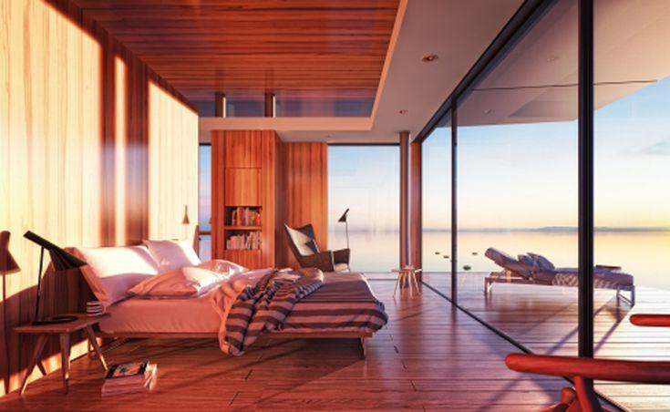Bedroom design in Floating House