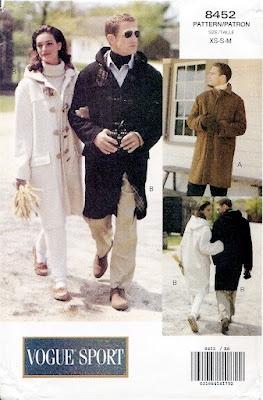 Vogue Sport 8452 men's duffle coat pattern (actually it's a unisex pattern I believe).
