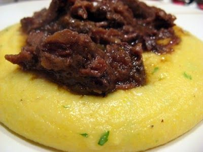 Braised Oxtail With Creamy Polenta Finally Found This Recipe Ive Been Wanting To Do