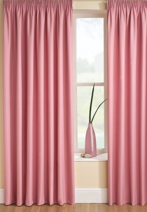 Rosings Pink Lined Curtains