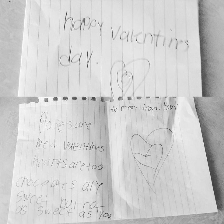 """I woke up to the sweetest note next to my bed this morning from my princess Kari. It says """"Happy Valentine's Day"""" """"Roses are red Valentines hardtop are too chocolates are sweet but not as sweet as you."""" She amazes me everyday. I am blessed to have the most amazing kids that I do. I love her. #AmazingKids #HappyValentinesDay #Pookie #Princess #LivingTheDream"""