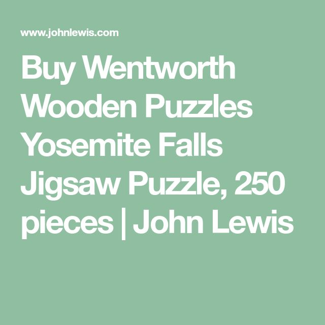 Buy Wentworth Wooden Puzzles Yosemite Falls Jigsaw Puzzle, 250 pieces | John Lewis
