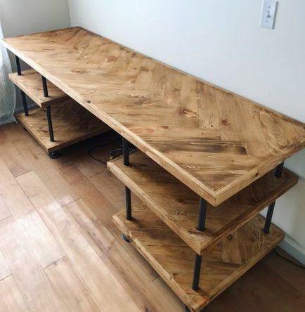 Neue Heimbüro DIY Schreibtisch Industrie Rohr 58 Ideen – #desk #DIY #Home #ideas #industrial #off …
