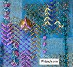 Arrowhead Stitch sample for stitch dictionary