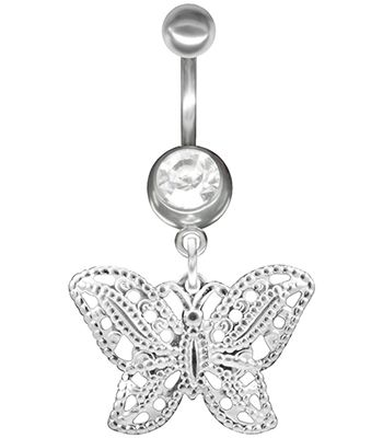 Filigree Butterfly Jeweled Belly Button Ring $10 -14g-Dangle-Navel Body Jewelry at http://www.body-jewelry-shop.com/Filigree-Butterfly-Jeweled-Belly-Button-Ring-14g-Dangle-Navel-Body-Jewelry.html